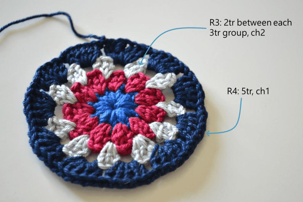 Mandala Placemat free crochet pattern step 3