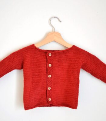 capucine's baby cardigan free knitting pattern featured image