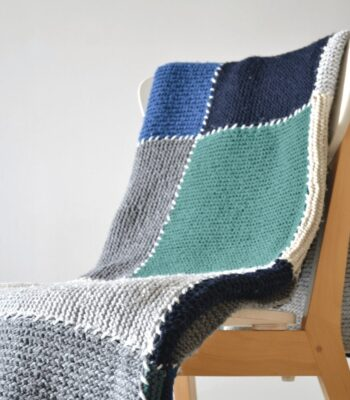 Block blanket free knitting pattern