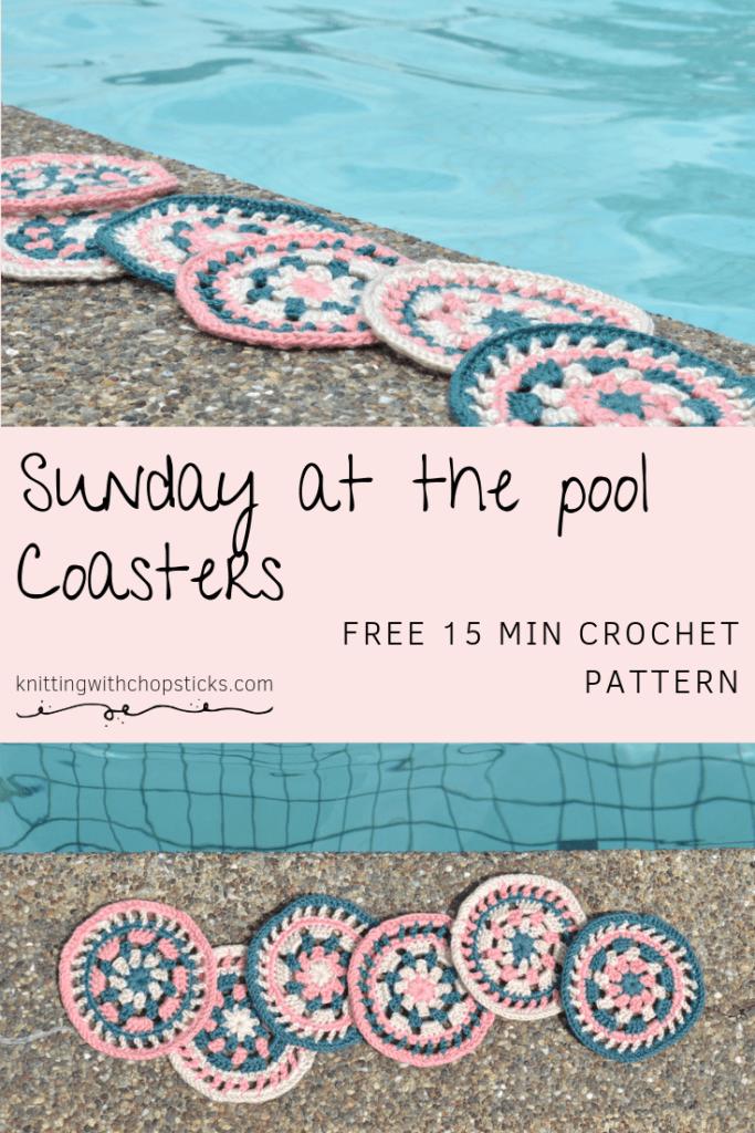 Sunday at the pool coaster free crochet pattern