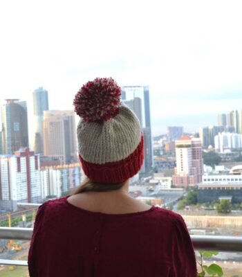 One evening beanie free knitting pattern