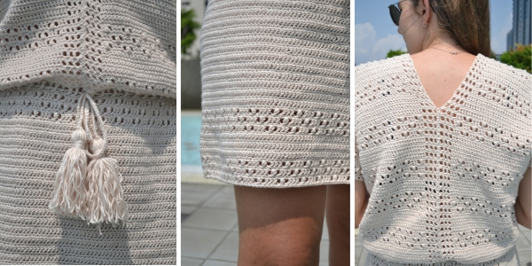 Crochet ideas for spring: free crochet dress pattern in english