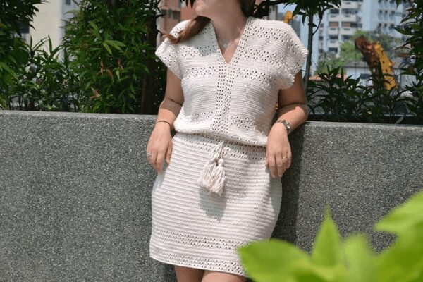 Pretty Spring Dress crochet pattern FREE