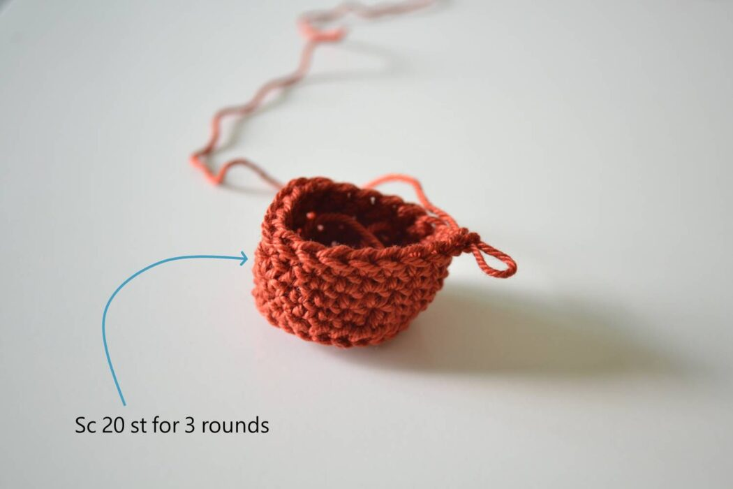 Chair socks free crochet pattern step 4