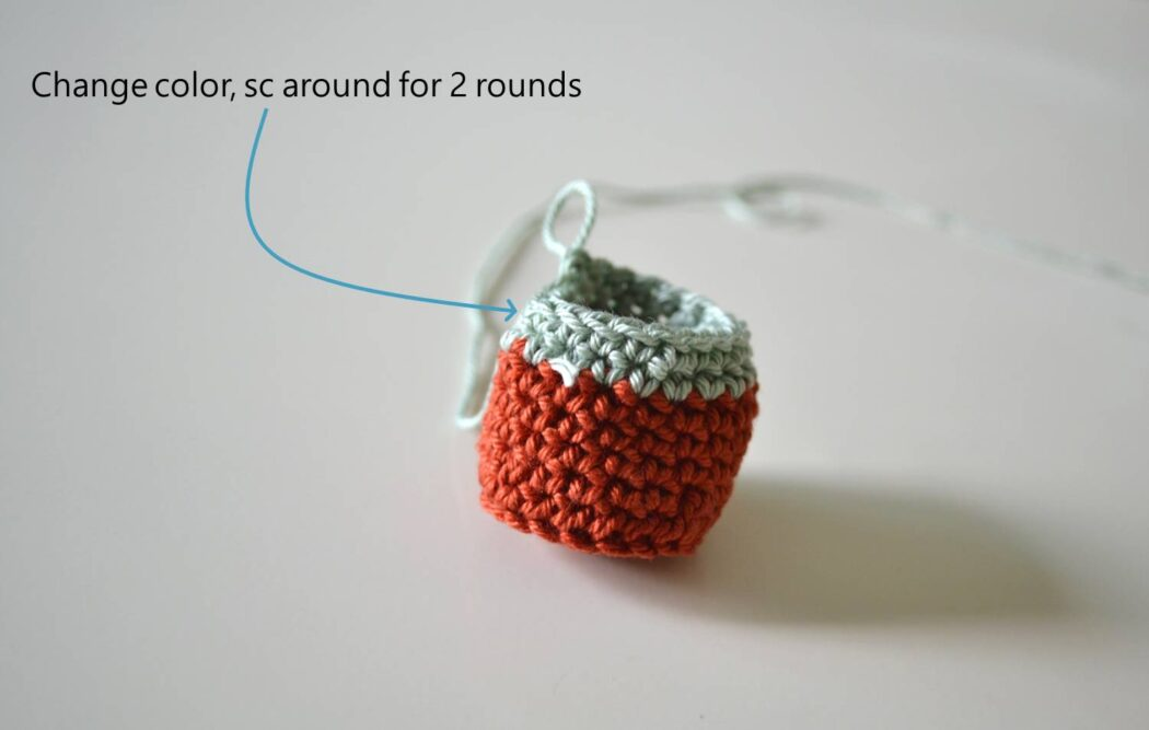 Chair socks free crochet pattern step 5