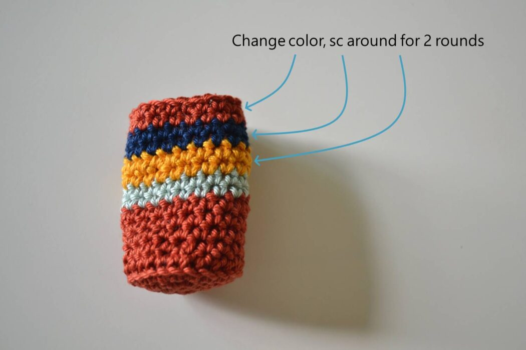 Chair socks free crochet pattern step 6