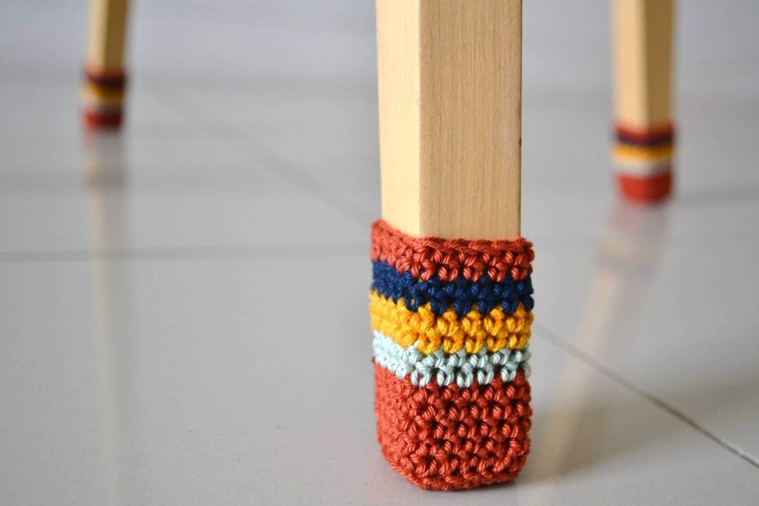 Crochet Chair Socks Pattern Knitting With Chopsticks