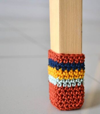 Chair socks free crochet pattern