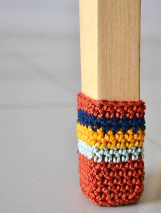 Chair socks free crochet pattern