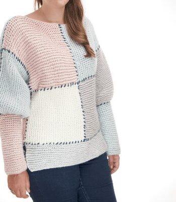block sweater free knitting pattern
