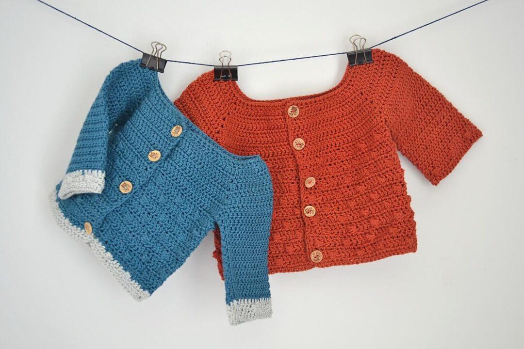 bubbly baby cardigan free crochet pattern