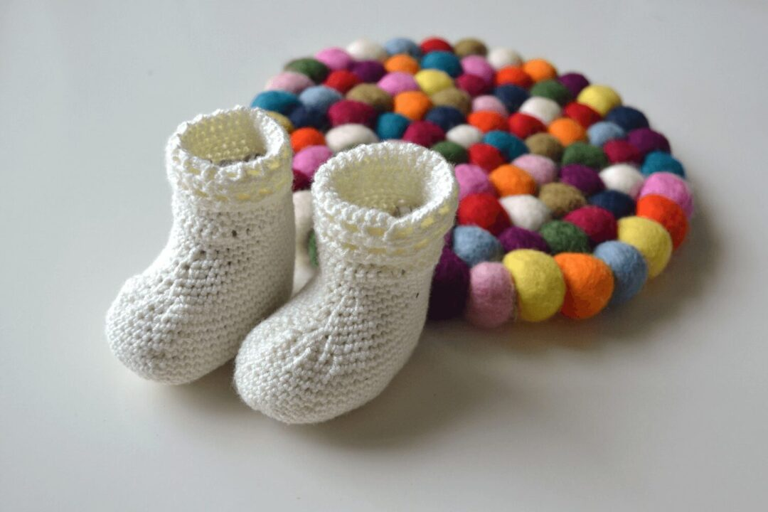 Happy feet baby socks by Knitting with Chopsticks