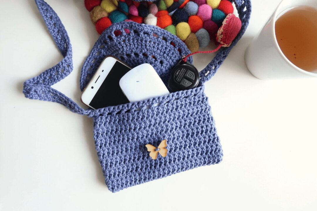 Eyelet Crochet Bag Free Pattern