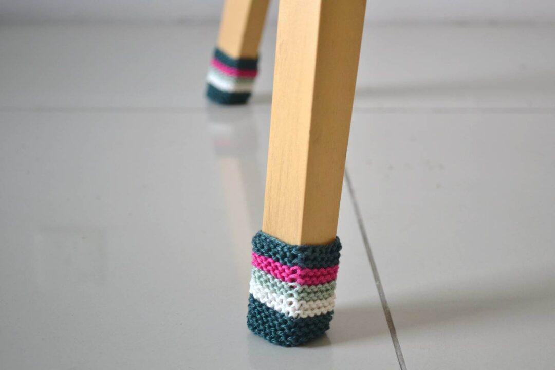 Chair socks free knitting pattern
