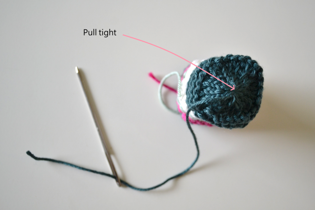 Chair socks knitting pattern step 9