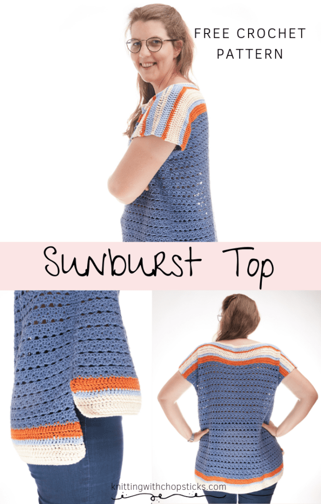Sunburst Summer Top Crochet Pattern FREE