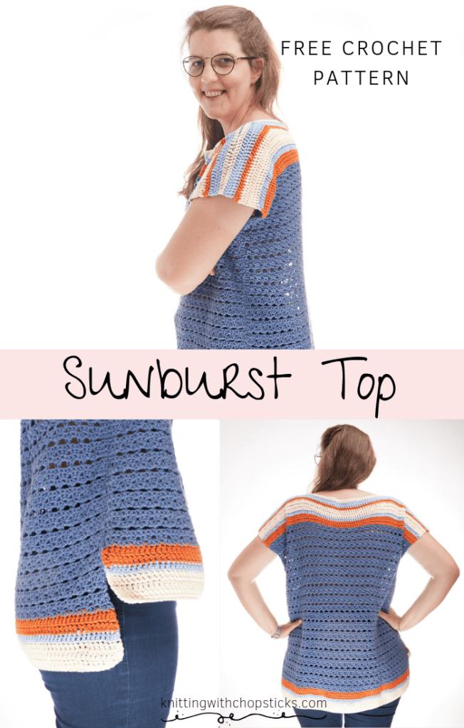Sunburst Summer Top Crochet Pattern FREE
