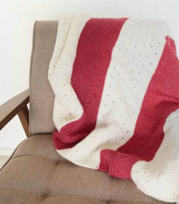 Strawberry Seed Baby Blanket Knitting Pattern FREE