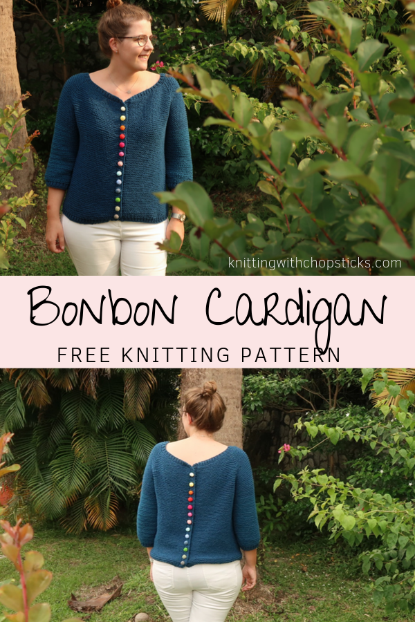 The Bonbon Cardigan Knitting Pattern : An easy top down raglan cardigan knitting pattern