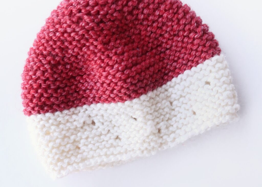 Strawberry Seed Knit Baby Hat Pattern FREE