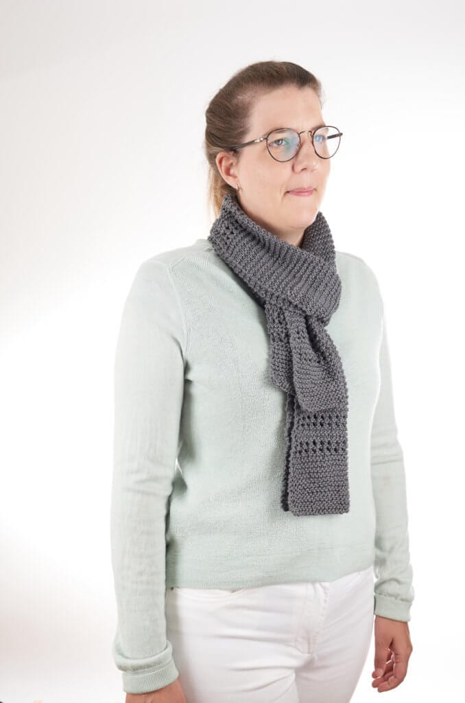 Aircon Scarf free knitting pattern