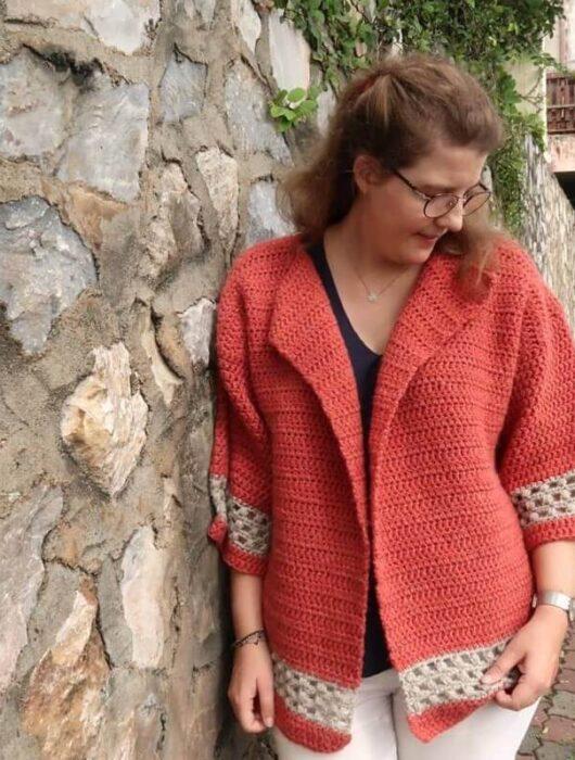 Hometown Chunky Cardigan Crochet Pattern FREE