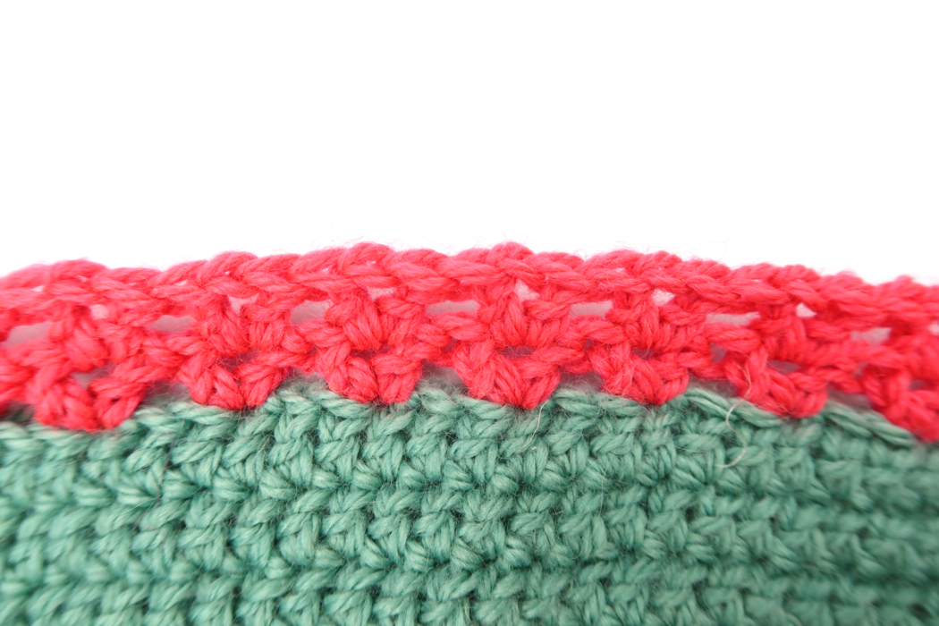 Border repeat for the pink section of the long cardigan crochet pattern