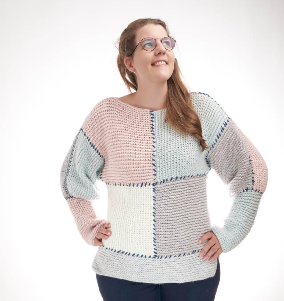 Block Sweater Knitting Pattern free