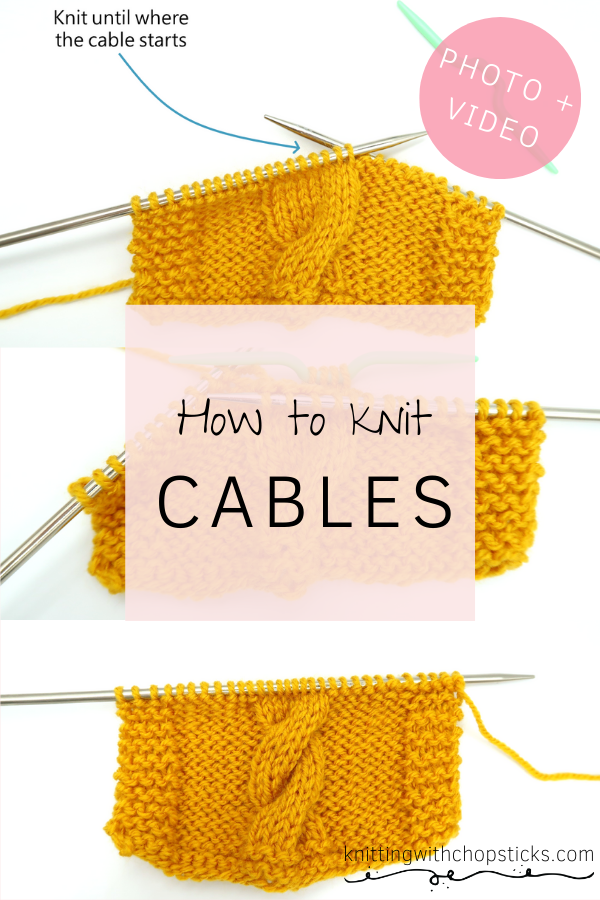 Cable knit tutorial for beginners