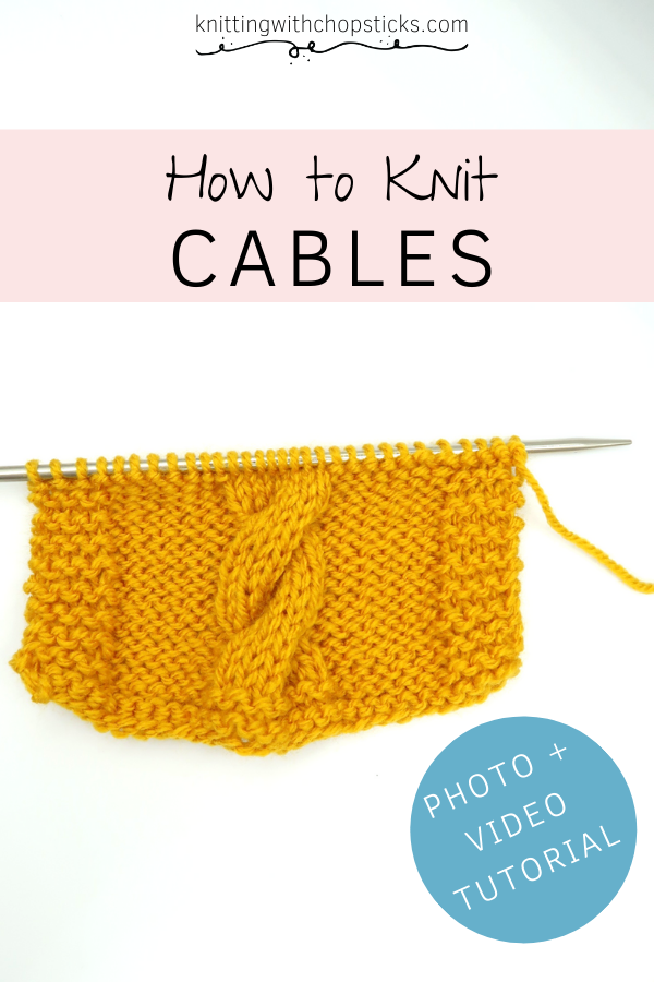 How to knit cables video and photo tutorial