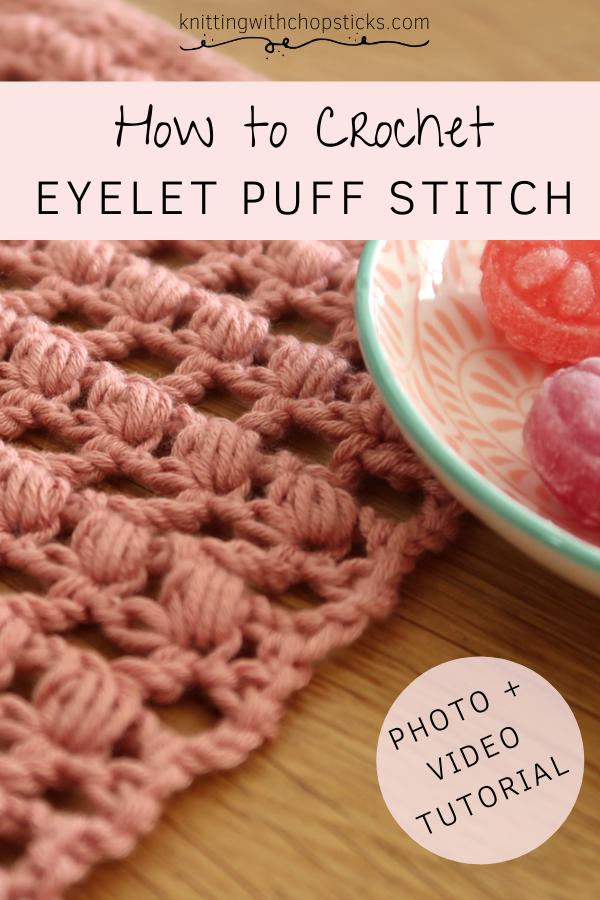 Eyelet Puff easy crochet stitch pattern