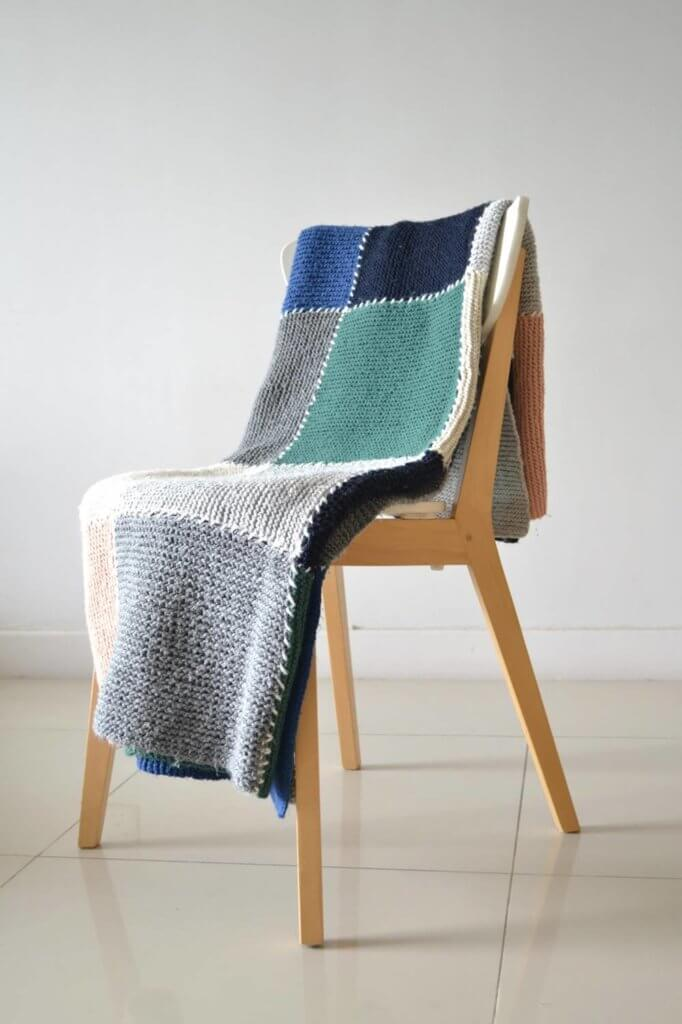 Block blanket Knitting pattern