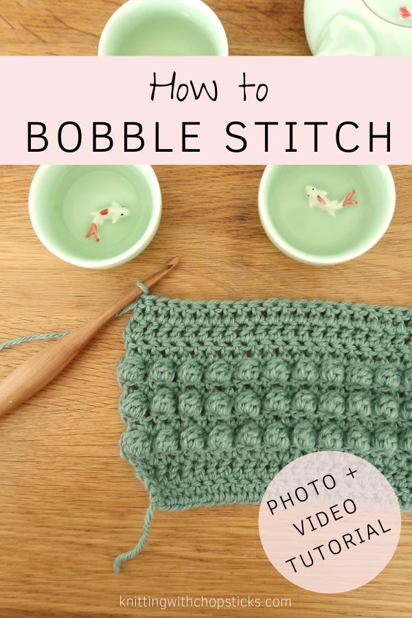 Bobble crochet stitch tutorial