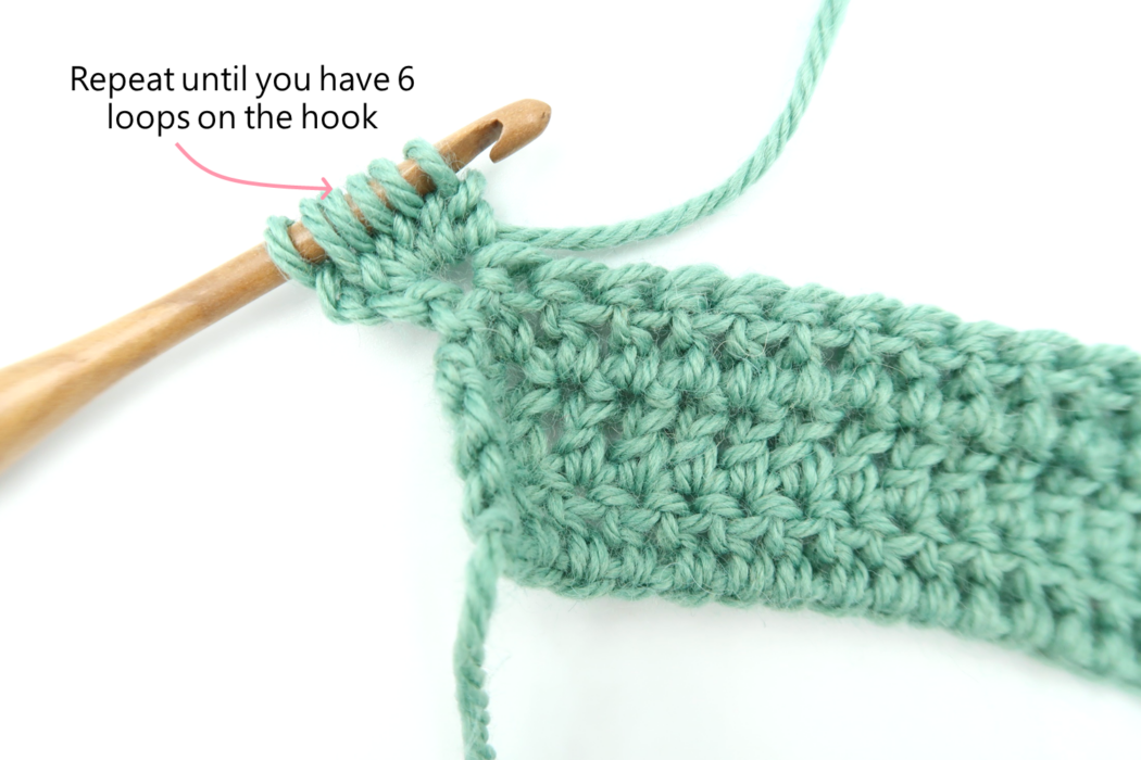 How to crochet the bobble stitch step 2