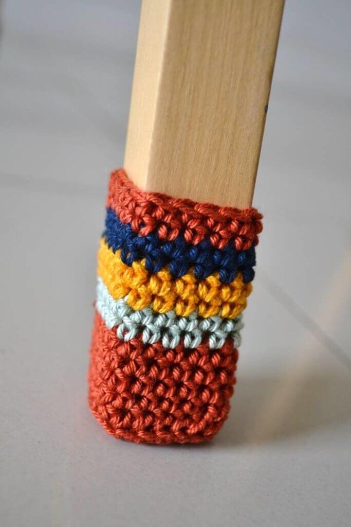 chair socks crochet pattern