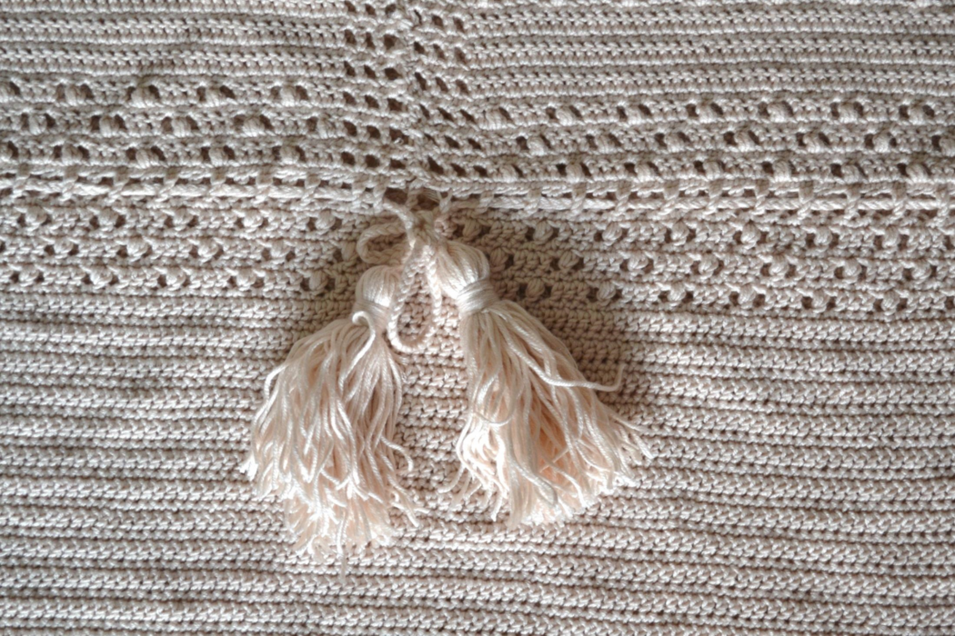 Pretty spring dress free crochet pattern step 11