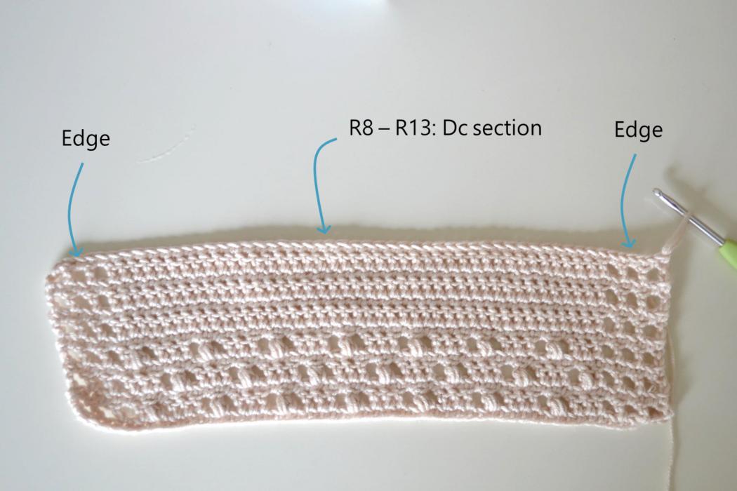 Free crochet dress pattern in English step 4