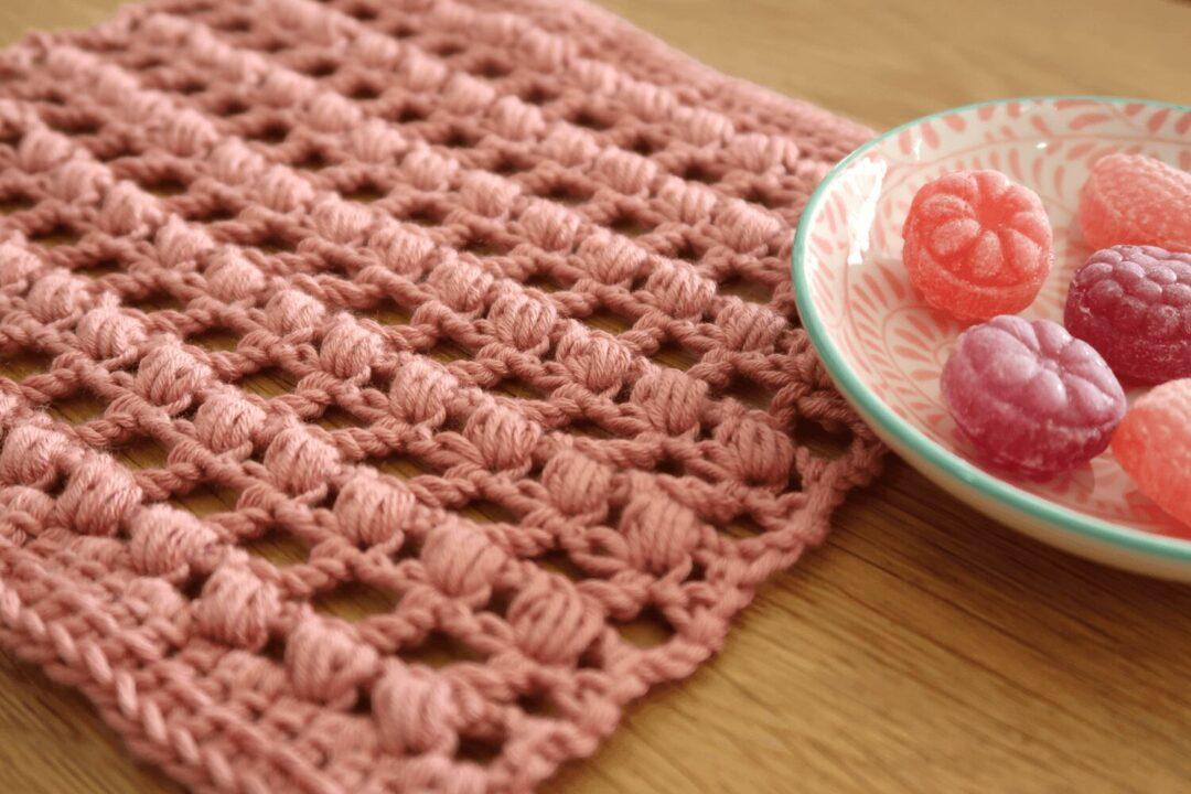 Eyelet Puff Crochet stitch tutorial