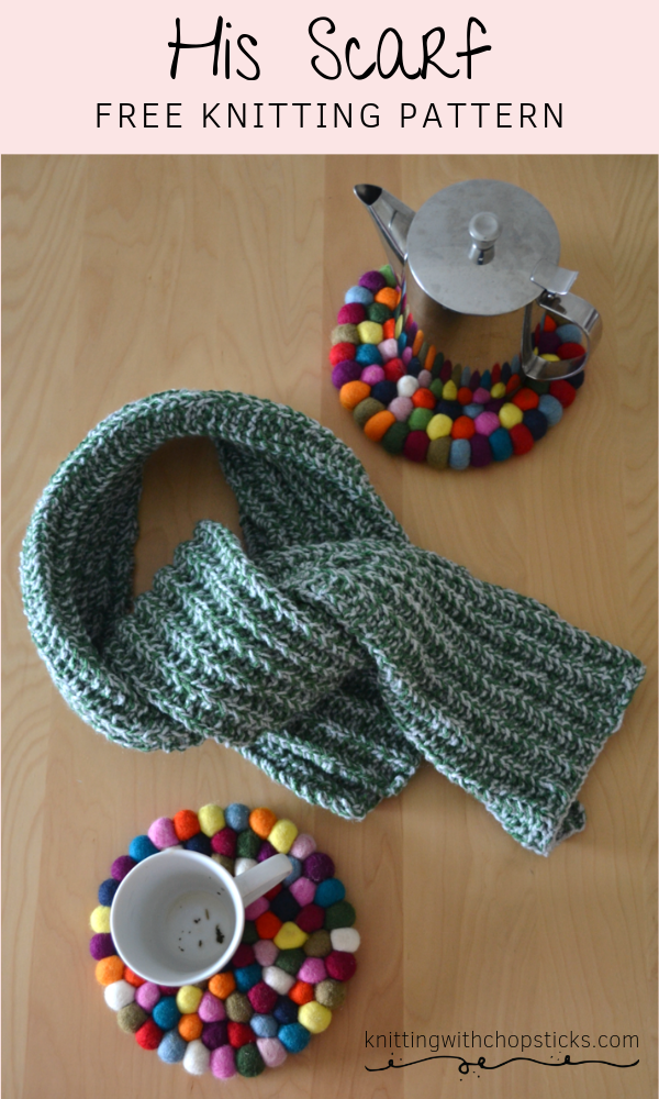 Easy scarf knitting pattern