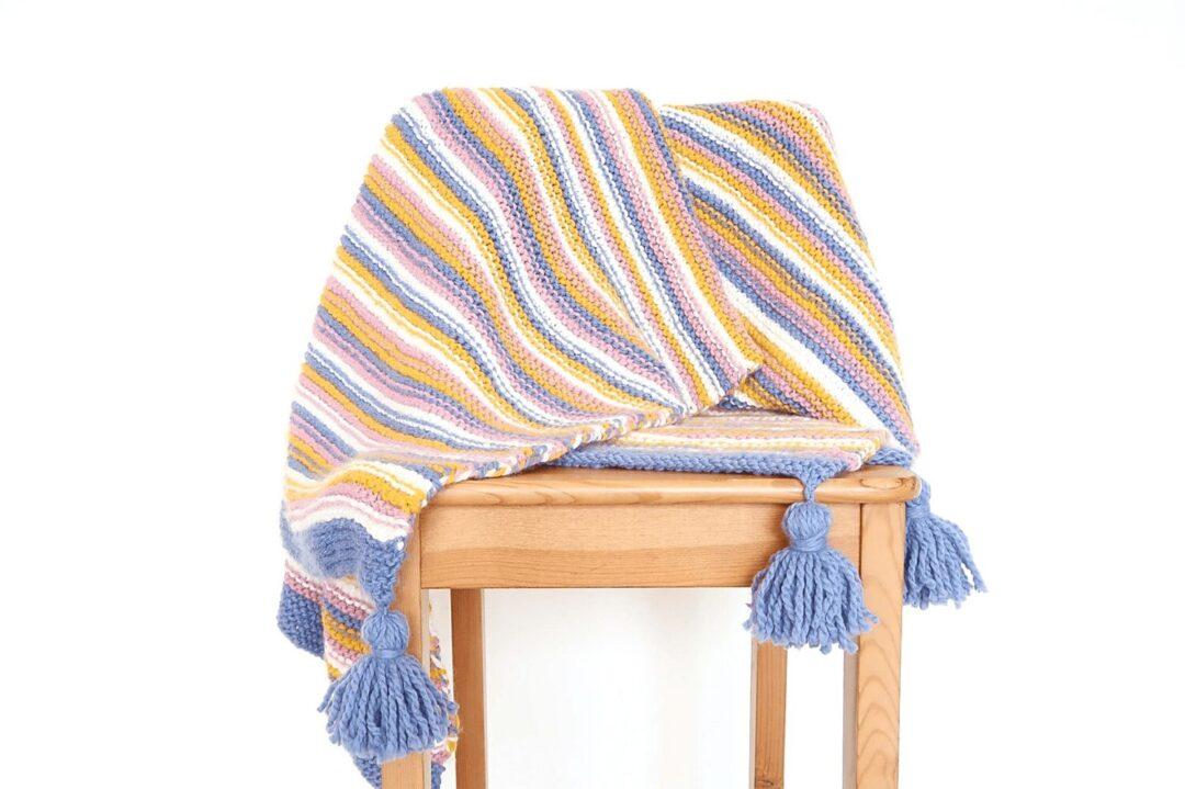 Sunset Chunky Knit Blanket Pattern