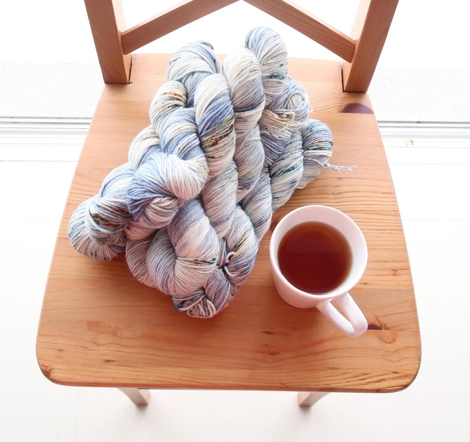 Gorgeous Biffsugar Yarns for the knit a sweater pattern