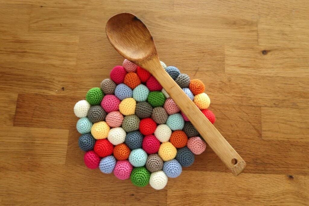 Candy Potholder crochet pattern