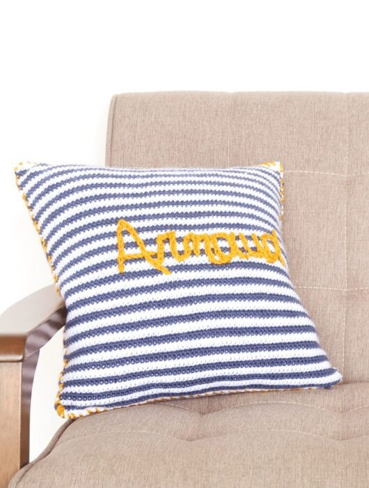 Baby name pillow crochet pattern