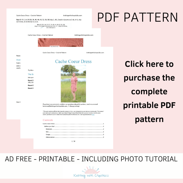 Purchase the ad free PDF of the cache coeur crochet dress pattern