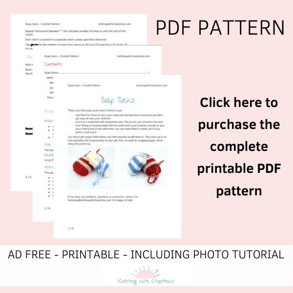 PDF crochet soap saver pattern for purchase