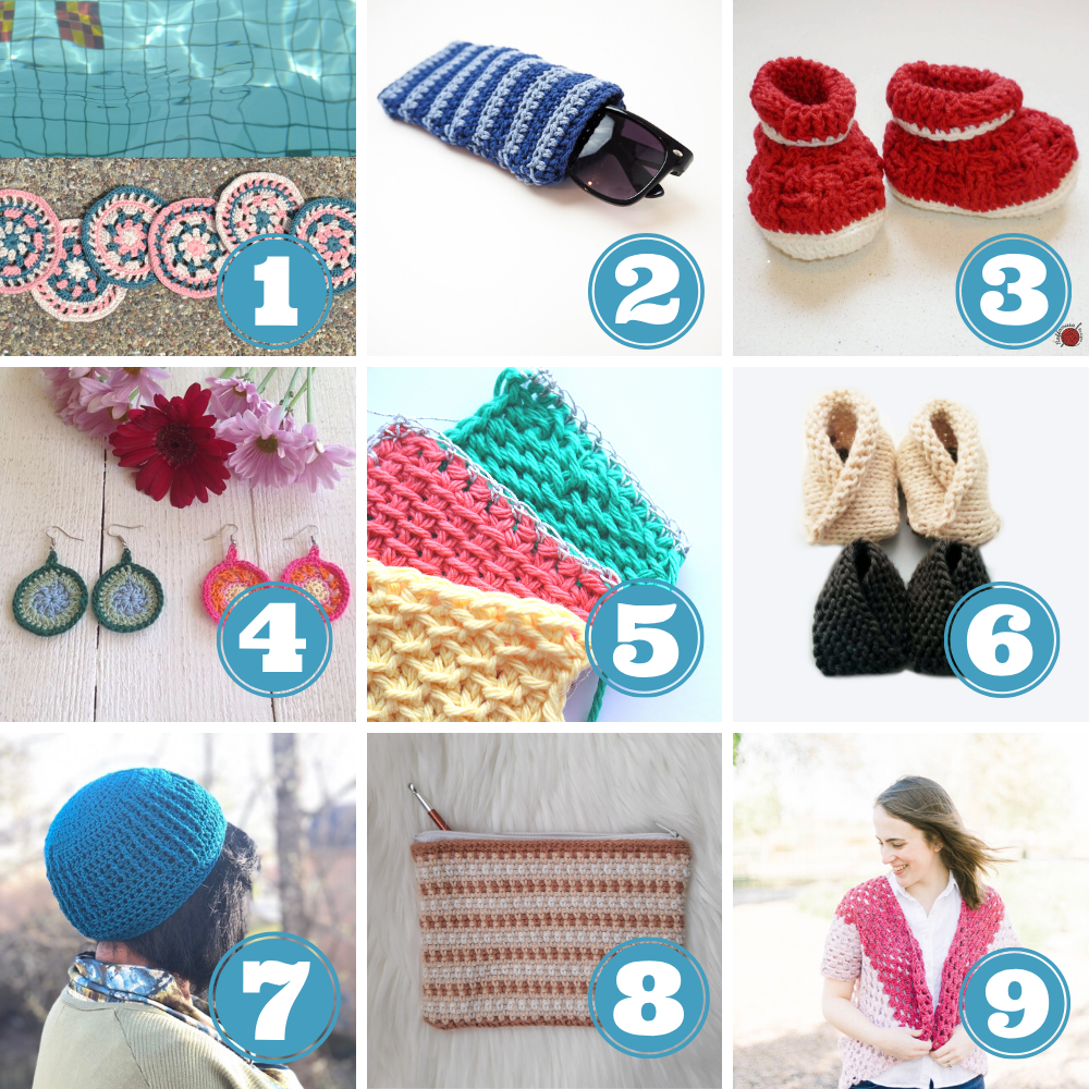 How to use up yarn stash week 3 patterns 1 to 10