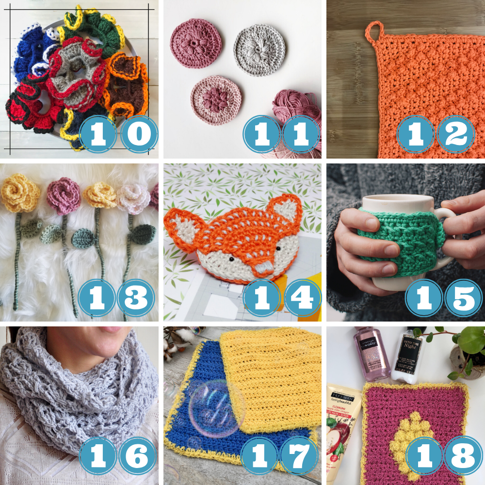 How to use up yarn stash week 4 patterns 10 to 18