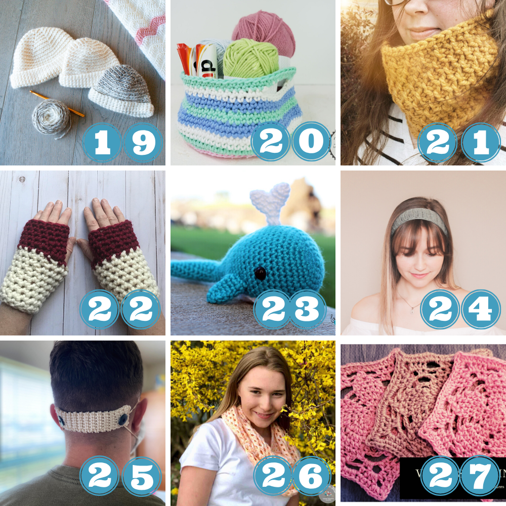 Scrap yarn projects crochet week 3 patterns 19 to 27