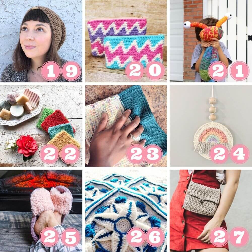 Yarn stash busting crochet patterns 19 to 27