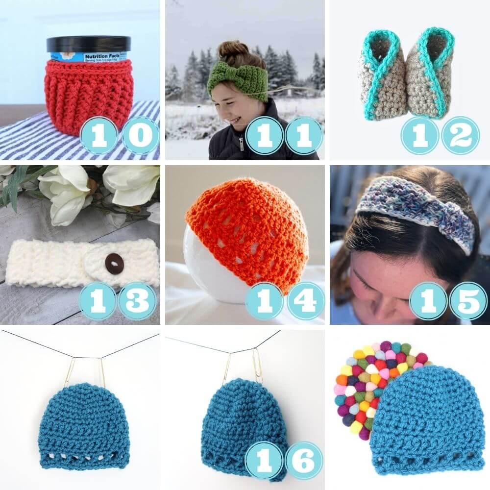 Scrap yarn projects week 1 10 to 16